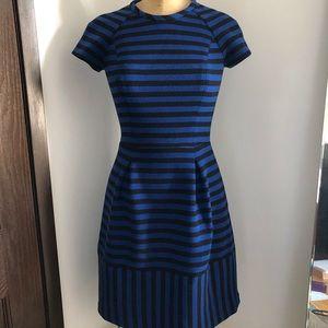 Banana Republic blue black striped dress 0